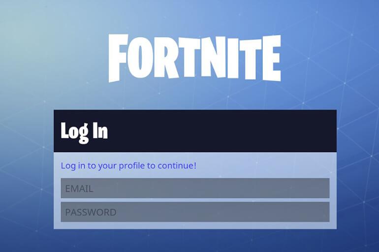 Вход в Fortnite