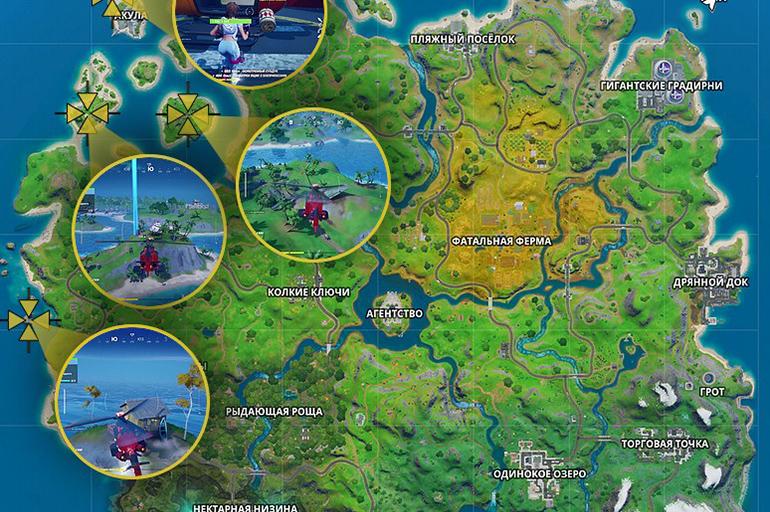 Бухта кораблекрушений на карте