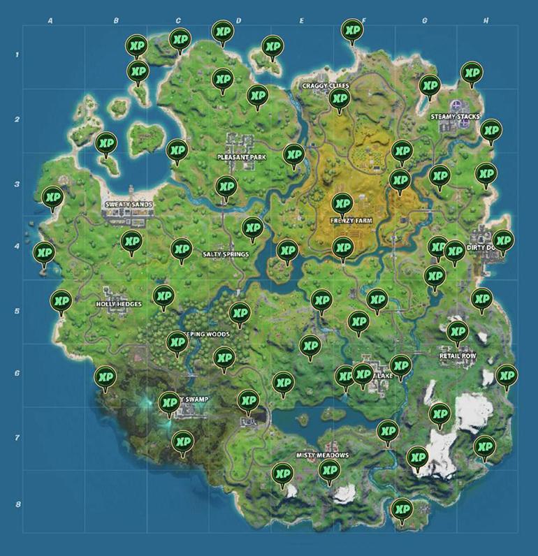 Карта опыта для 2 сезона