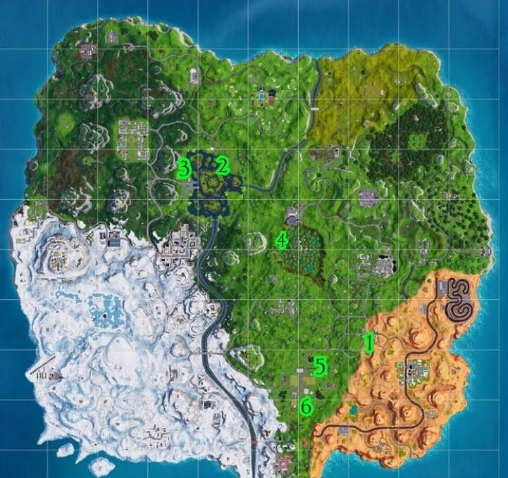 Мячи на карте