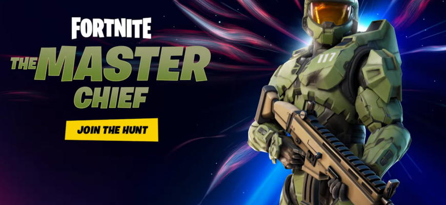 Мастер Чиф из видеоигры Halo стал новым охотником на острове Fortnite