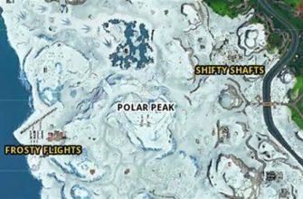 Карта самых «горячих» точек игры Fortnite