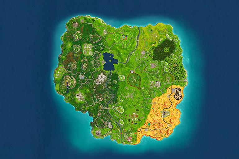 Карта 5 сезона Fortnite